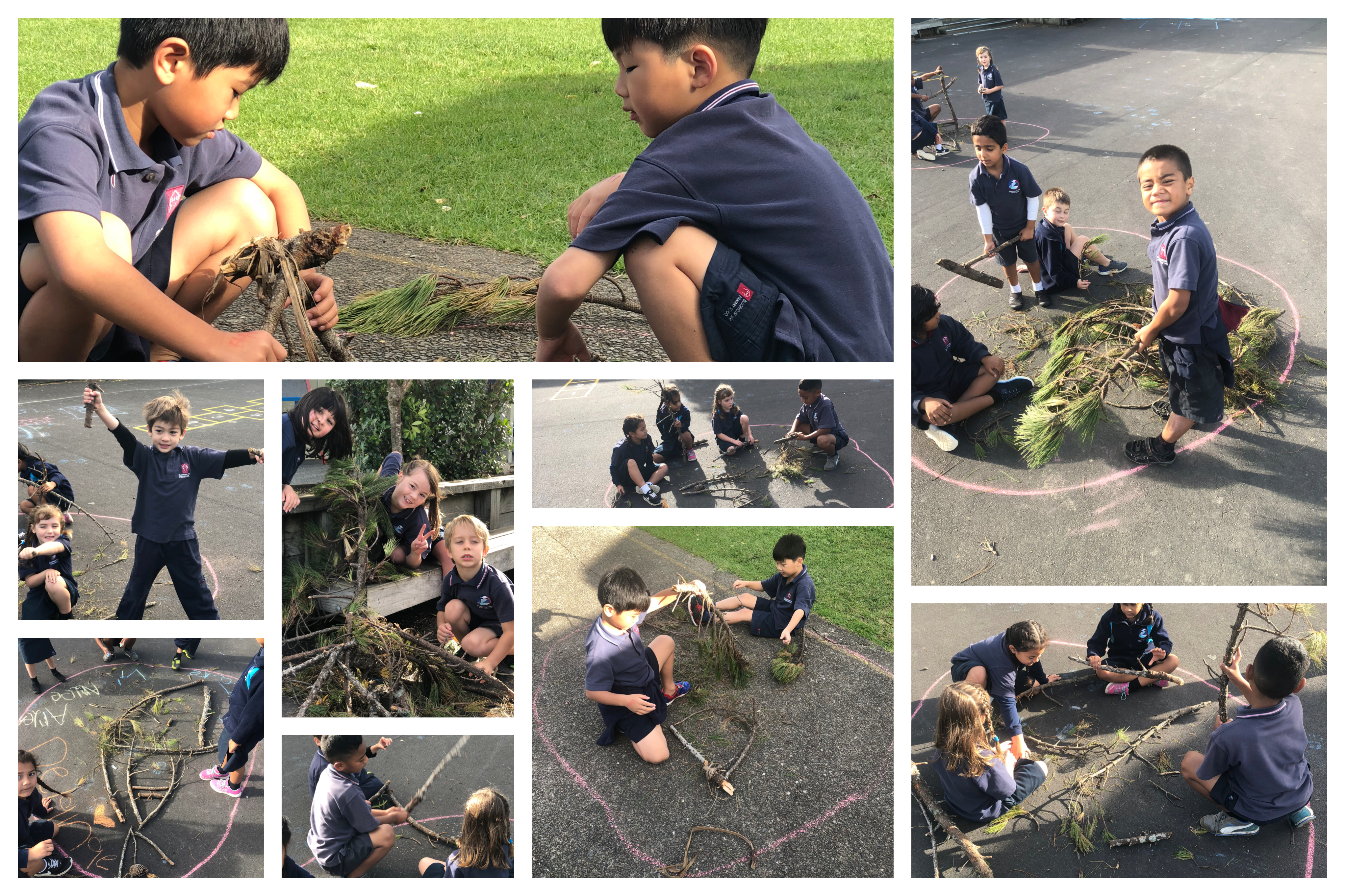 Blockhouse Bay Primary School - Nature Crafts.