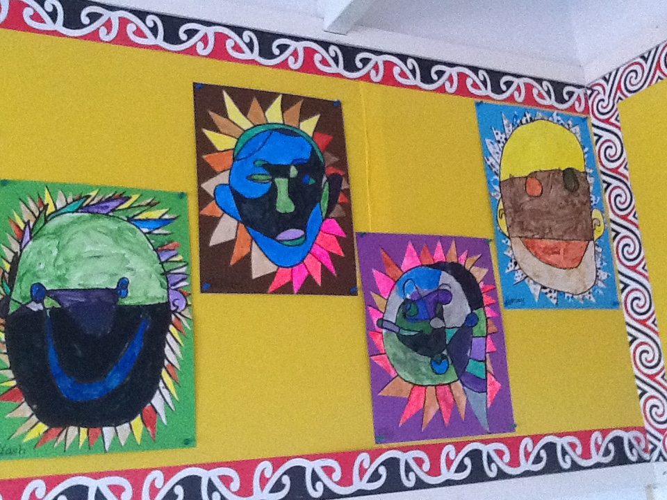Blockhouse Bay Primary School - The Creation of Beautiful Continual Line Sel Portrait