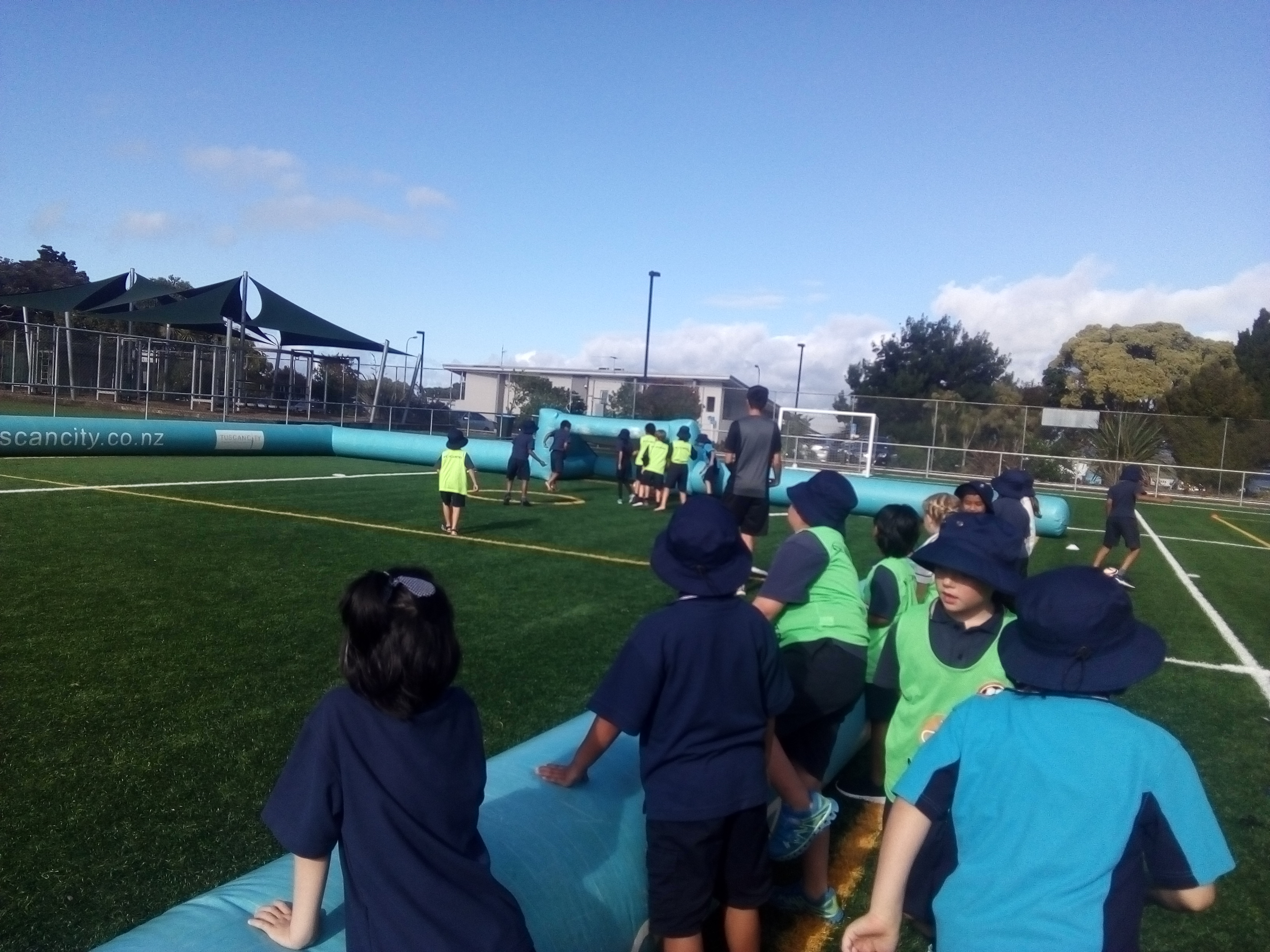 Blockhouse Bay Primary School - Inflatable Football Rooms 2 and 3...