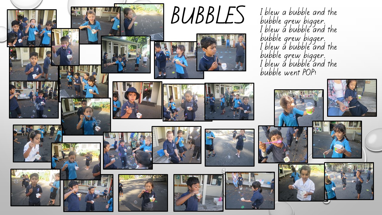 Blockhouse Bay Primary School - I blew a bubble....