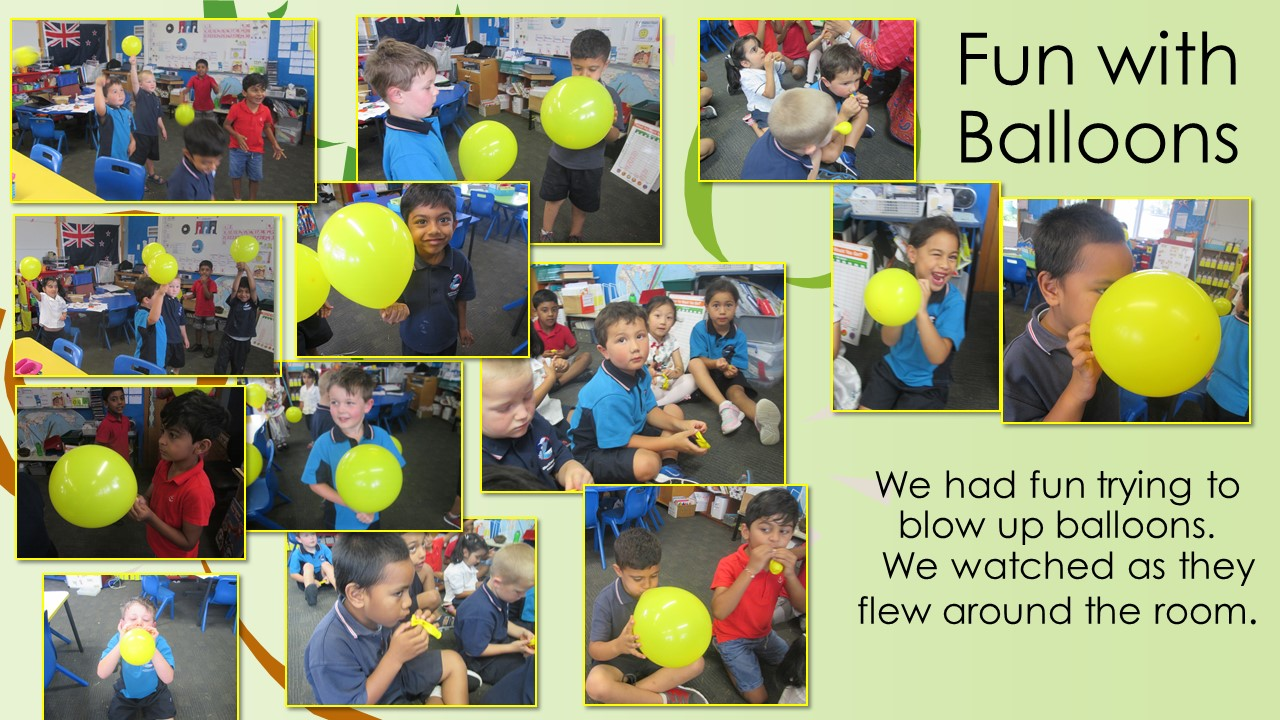 Blockhouse Bay Primary School - Fun with balloons