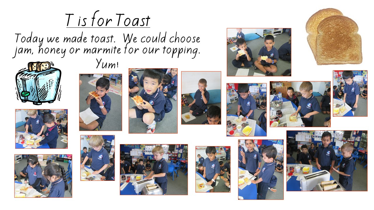 Blockhouse Bay Primary School - Making toast