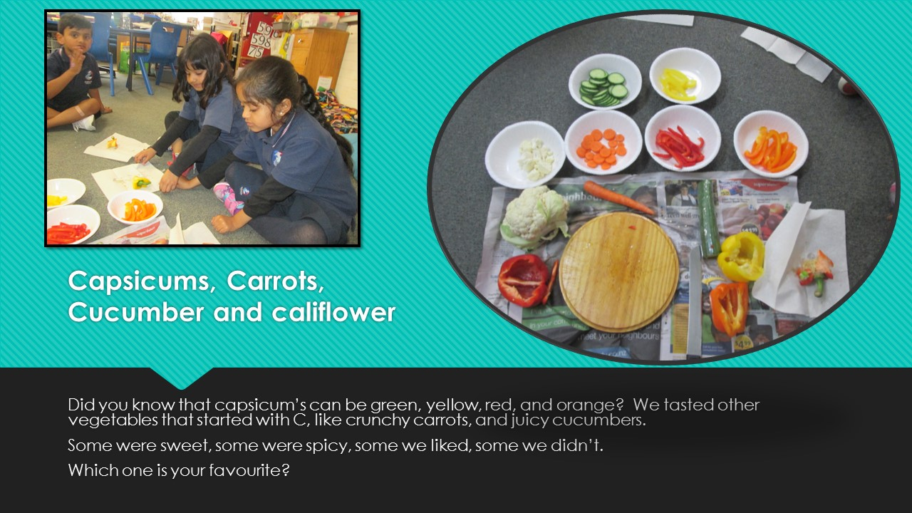 Blockhouse Bay Primary School - Capsicums, carrots, cucumbers and califlower