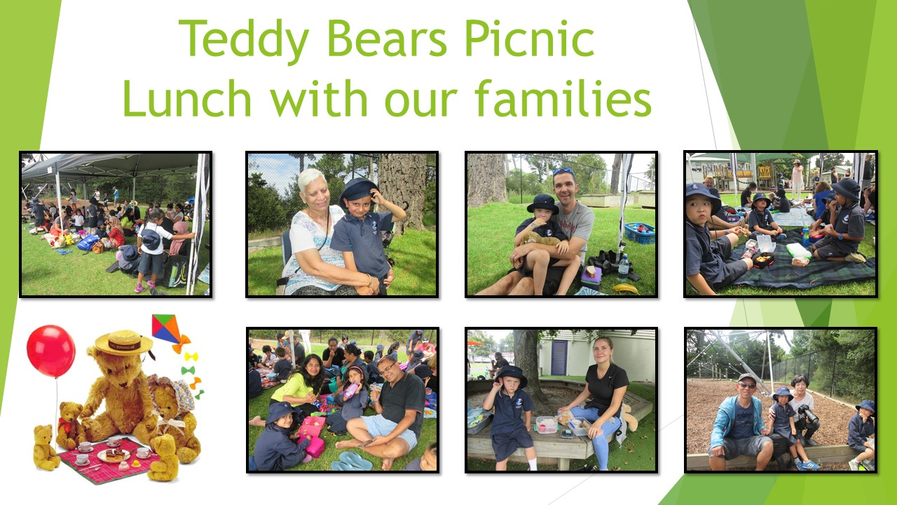 Blockhouse Bay Primary School - Teddy Bears Picnic.  Lunch with families