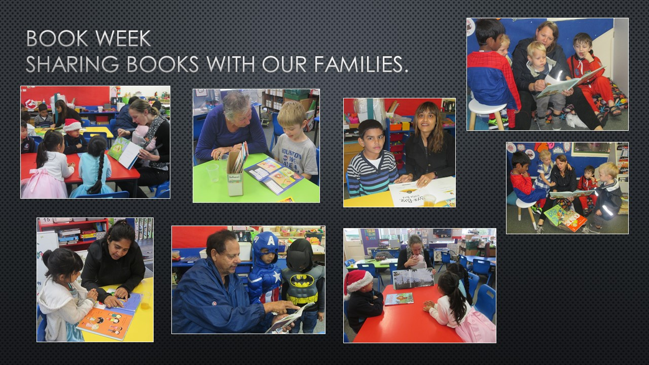 Blockhouse Bay Primary School - Book Week.  Reading with Families