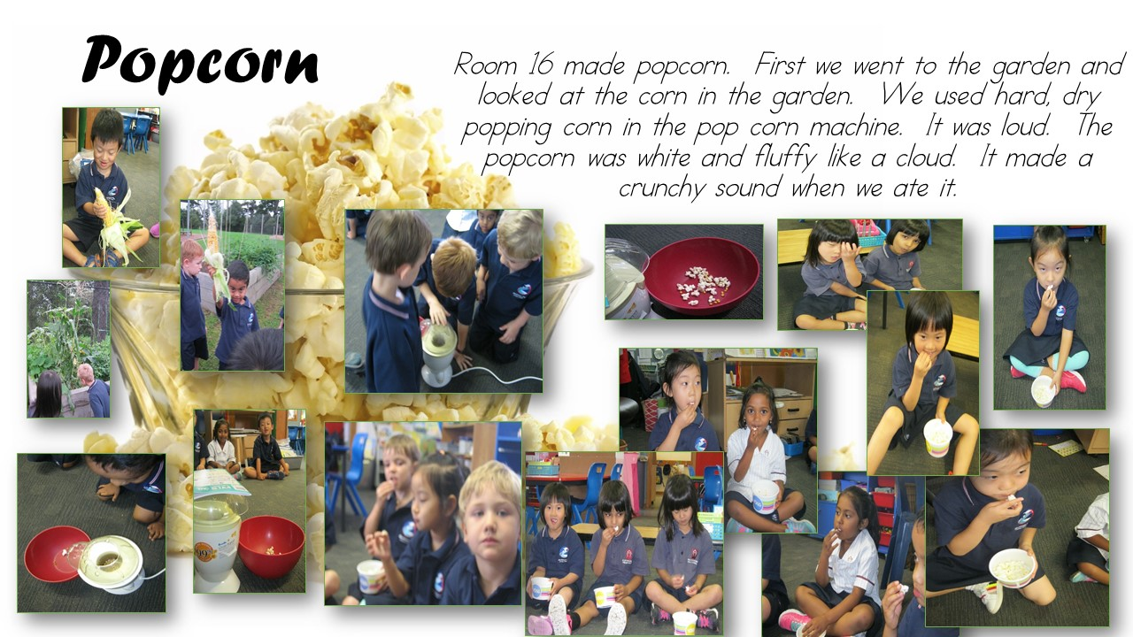Blockhouse Bay Primary School - Making popcorn