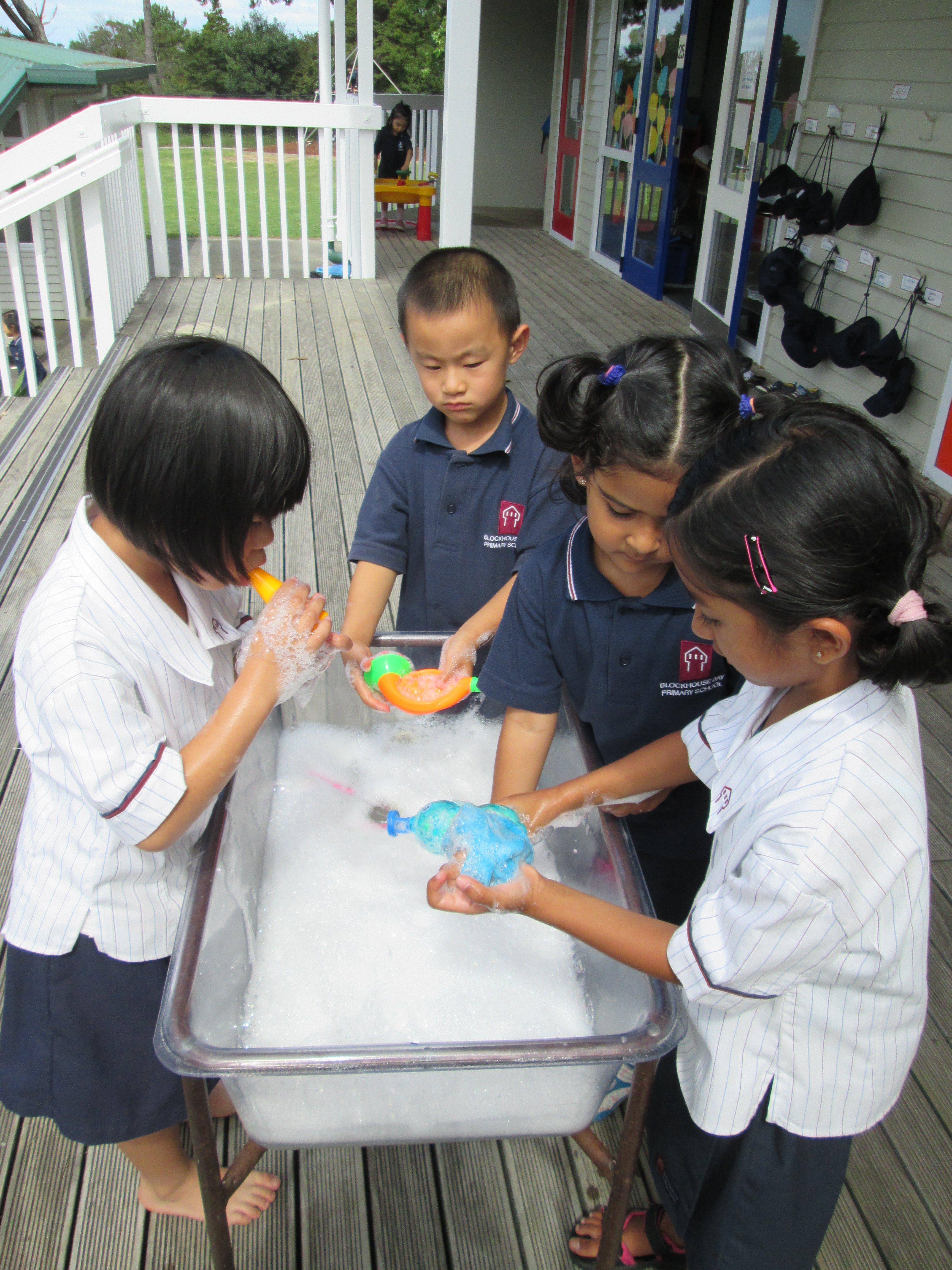 Blockhouse Bay Primary School - Bubbles everywhere
