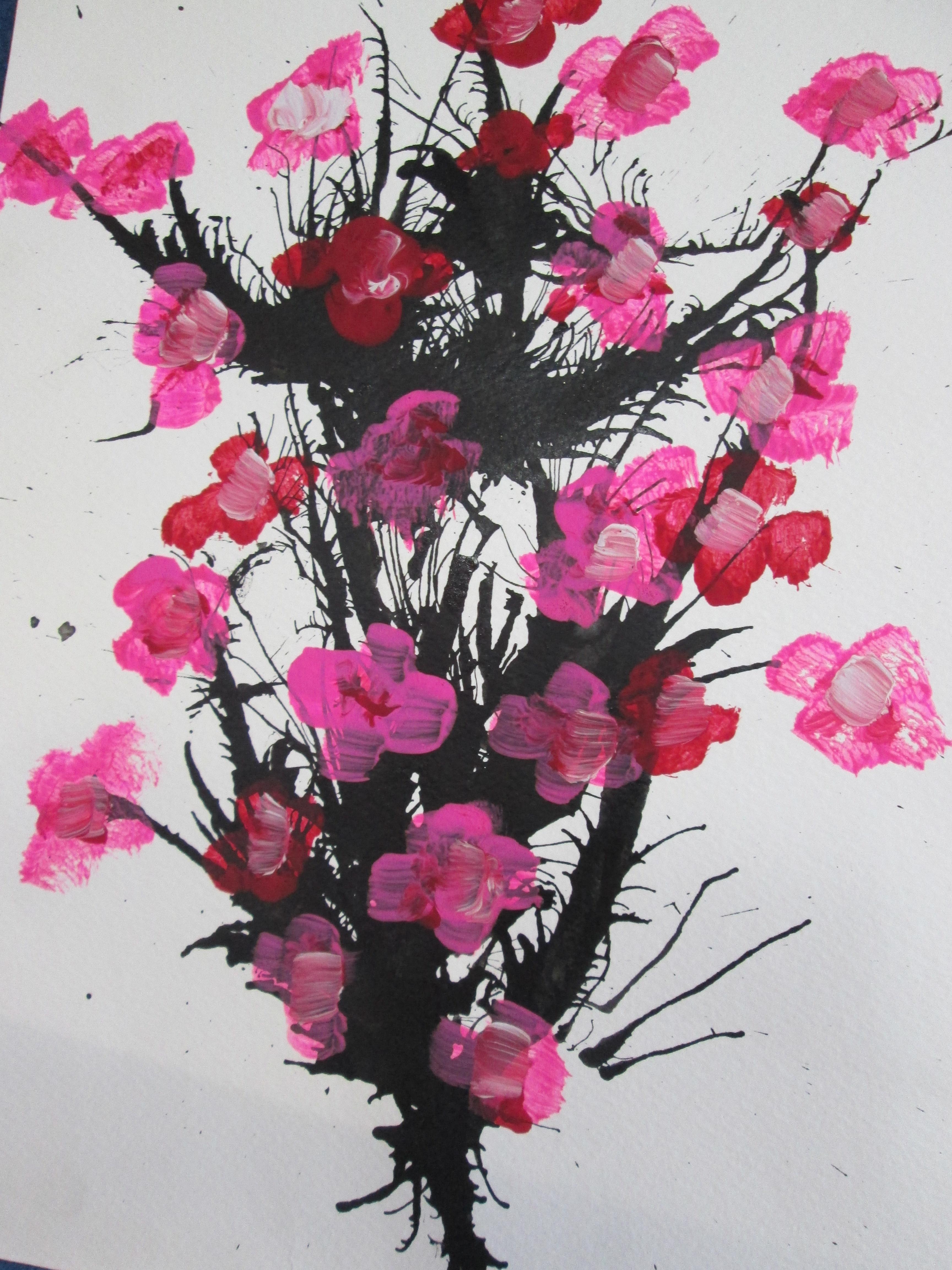 Blockhouse Bay Primary School - Cherry Blossom Art