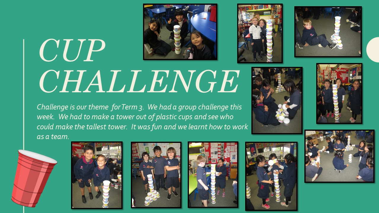 Blockhouse Bay Primary School - Plastic cup tower challenge