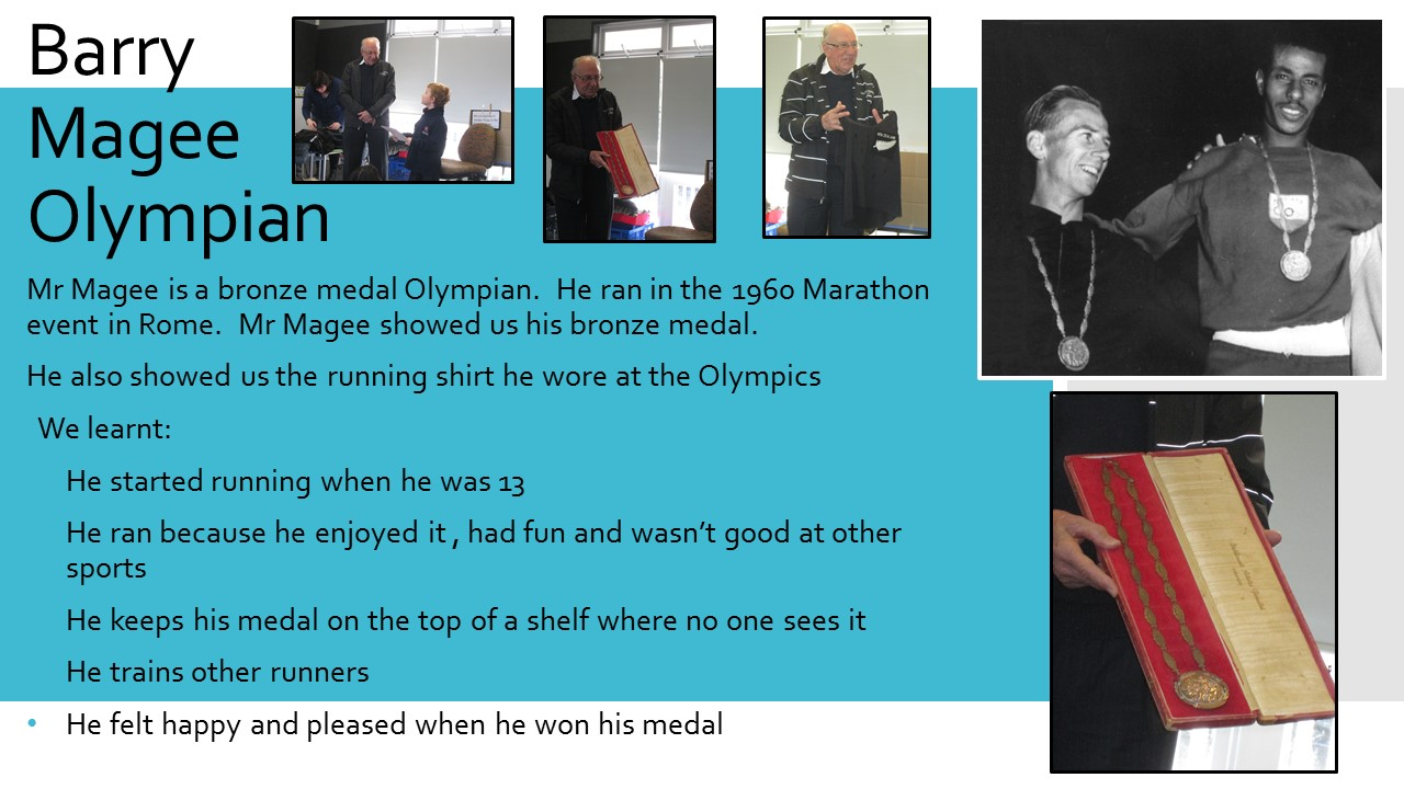 Blockhouse Bay Primary School - An Olympian visits Room 15