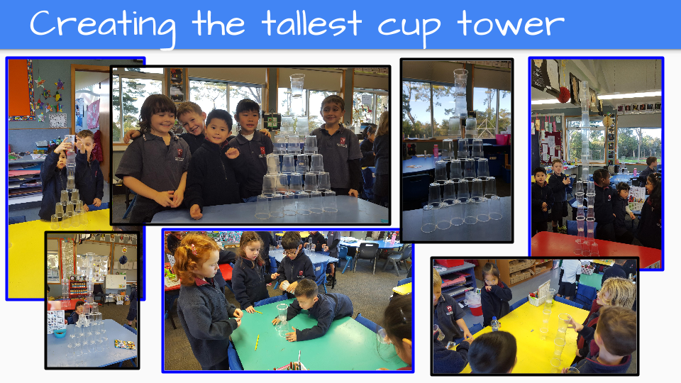 Blockhouse Bay Primary School - Creating the Tallest Cup Tower